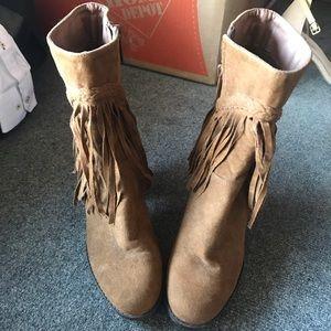 Breckelles  fringe ankle boot